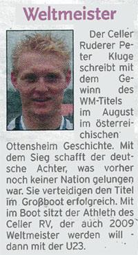 Sportlerehrung der Celleschen Zeitung