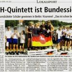 RVGH-Quintett ist Bundessieger