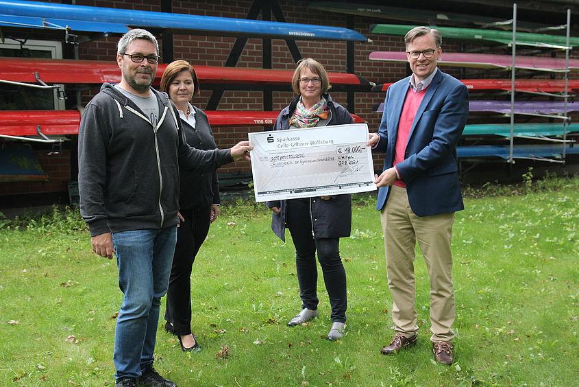 Landkreis Gifhorn Stiftung unterstützt den Ruderverein am Gymnasium Hankensbüttel
